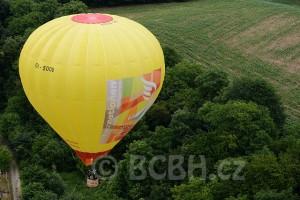 Létání horkovzdušným balónem v roce 2015.